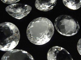 【動画】宝石質クリスタルAAA 穴なしラウンドファセットカット18×18mm 2粒