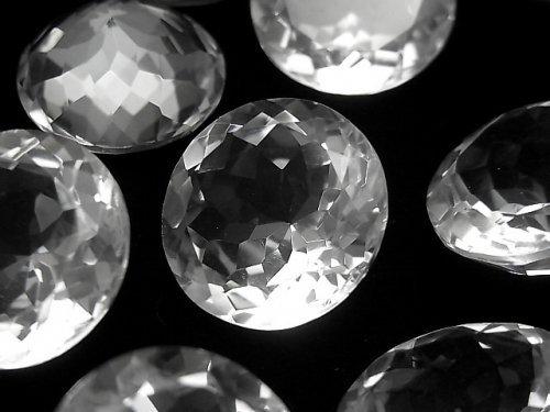 【動画】宝石質クリスタルAAA 穴なしラウンドファセットカット20×20mm 2粒