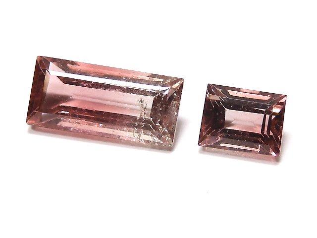 【動画】【1点もの】ナイジェリア産宝石質バイカラートルマリンAAA ファセットカット 2粒セット NO.123