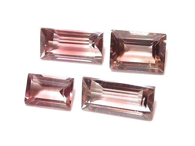【動画】【1点もの】ナイジェリア産宝石質バイカラートルマリンAAA ファセットカット 4粒セット NO.137