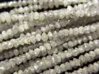 【動画】ライトグレーダイヤモンド ラフタンブル(チップ) 半連/1連(約37cm)