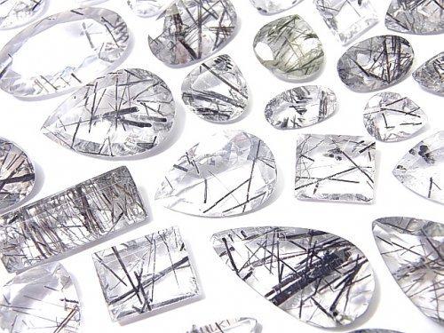 【動画】【1点もの】宝石質トルマリンクォーツAA++ 穴なしファセットカット 77粒セット NO.60