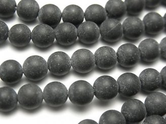 ブラックカルサイトAA+ ラウンド6mm 1連(約38cm)