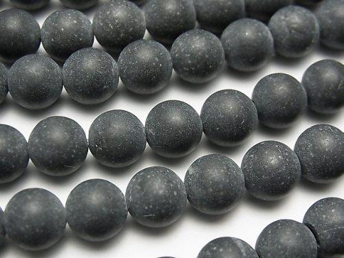 ブラックカルサイトAA+ ラウンド8mm 1連(約38cm)