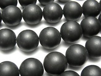 ブラックカルサイトAA+ ラウンド12mm 1連(約38cm)