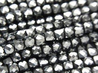 【動画】【素晴らしい輝き】高純度テラヘルツ鉱石 キューブカット4×4×4mm 1連(約35cm)