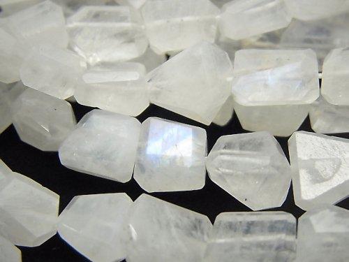【動画】宝石質レインボームーンストーンAA++ タンブルカット サイズグラデーション 半連/1連(約38cm)