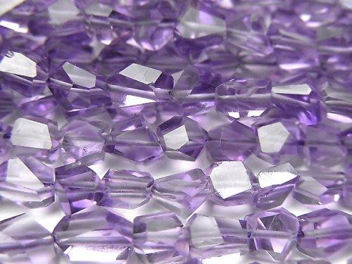 【動画】宝石質アメジストAAA タンブルカット 半連/1連(約38cm)