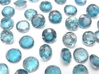 【動画】宝石質インディゴブルーカイヤナイトAAA- 穴なしラウンドファセットカット6×6mm 2粒