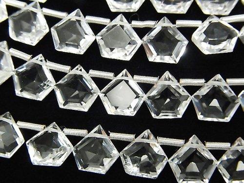 【動画】宝石質クリスタルAAA ペンタゴン ファセットカット7.5×7.5mm 1連(8粒)