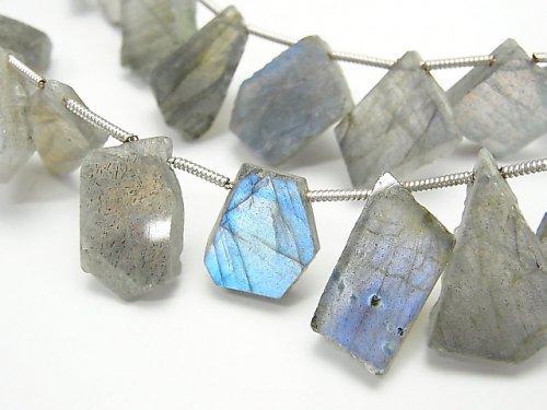 宝石質ラブラドライトAA++ スライスタンブル 1連(約17cm)