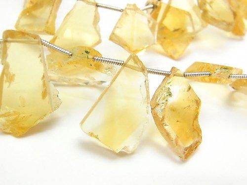 宝石質シトリンAAA- スライスタンブル 1連(約17cm)