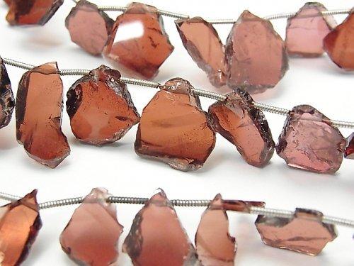 宝石質ガーネットAAA スライスタンブル 1連(約17cm)