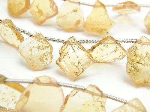宝石質インペリアルトパーズAAA- スライスタンブル 1連(約17cm)