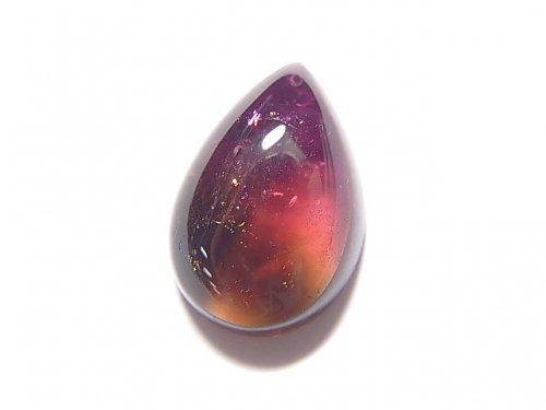 【動画】【1点もの】宝石質バイカラートルマリンAAA' カボション 1個 NO.106