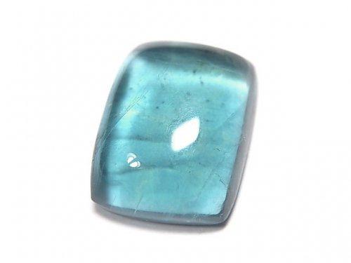 【動画】【1点もの】宝石質ブルーグリーンフローライトAAA カボション 1粒 NO.1