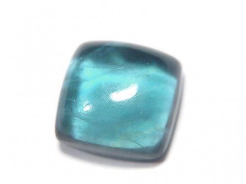 【動画】【1点もの】宝石質ブルーグリーンフローライトAAA カボション 1粒 NO.7