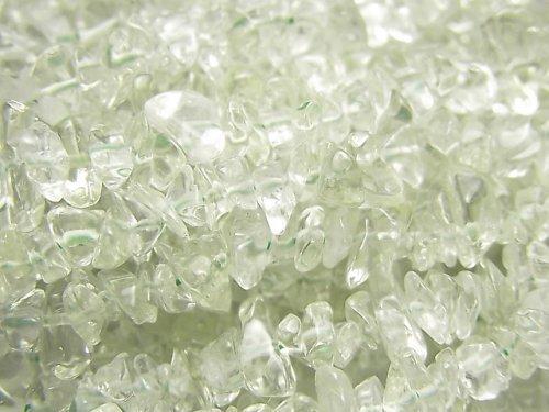 【動画】宝石質グリーンアメジストAAA- チップ(ミニタンブル) 1連(約84cm)