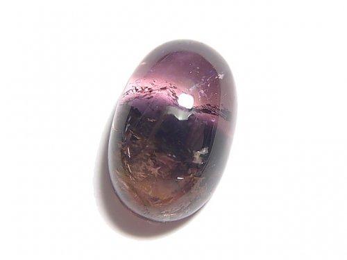 【動画】【1点もの】宝石質バイカラートルマリンAAA' カボション 1個 NO.120