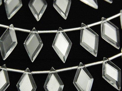 【動画】宝石質クリスタルAAA ダイヤカット14×7mm 1連(18粒)