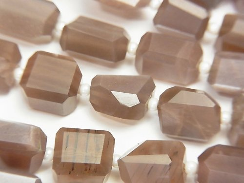 【動画】宝石質チョコレートムーンストーンAA++ タンブルカット 半連/1連(約38cm)