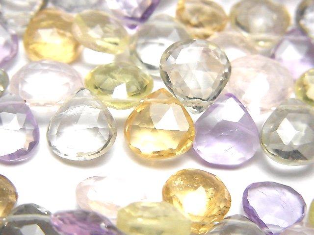【動画】宝石質いろんな天然石AAA- マロン ブリオレットカット 半連/1連(約18cm)