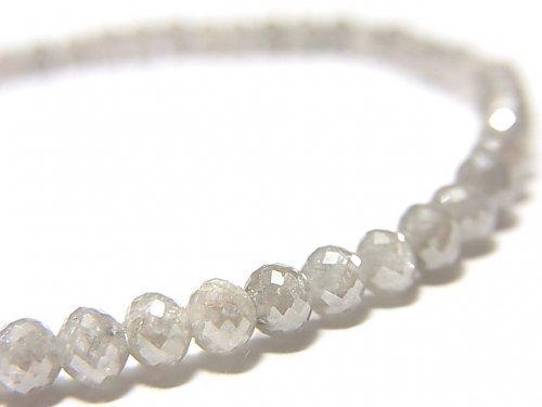 【動画】【1点もの】【1mm穴】非加熱ファンシーカラーダイヤモンド ボタンカット 1連(ブレス) NO.86