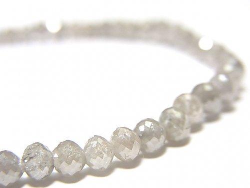 【動画】【1点もの】【1mm穴】非加熱ファンシーカラーダイヤモンド ボタンカット 1連(ブレス) NO.87