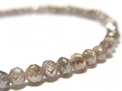 【動画】【1点もの】【1mm穴】非加熱ファンシーカラーダイヤモンド ボタンカット 1連(ブレス) NO.90