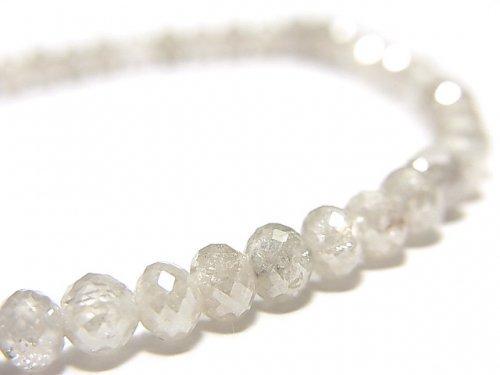 【動画】【1点もの】【1mm穴】非加熱ファンシーカラーダイヤモンド ボタンカット 1連(ブレス) NO.91