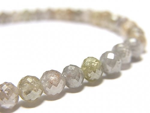 【動画】【1点もの】【1mm穴】非加熱ファンシーカラーダイヤモンド ボタンカット 1連(ブレス) NO.93