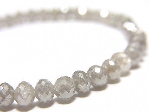 【動画】【1点もの】【1mm穴】非加熱ファンシーカラーダイヤモンド ボタンカット 1連(ブレス) NO.95