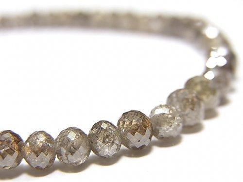 【動画】【1点もの】【1mm穴】非加熱ファンシーカラーダイヤモンド ボタンカット 1連(ブレス) NO.96