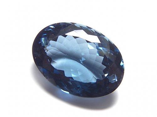 【動画】【1点もの】宝石質ロンドンブルートパーズAAA ファセットカット 1粒 NO.15