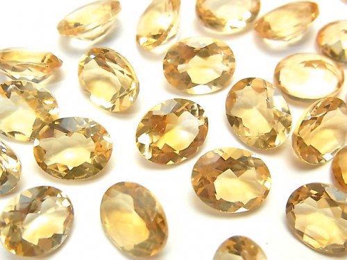 【動画】宝石質シトリンAAA 穴なしオーバルファセットカット10×8mm 3粒