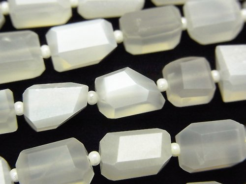 【動画】宝石質ホワイトムーンストーンAAA- タンブルカット 1連(約18cm)
