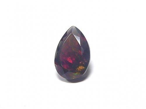 【動画】【1点もの】宝石質エチオピア産ブラックオパールAAA ファセットカット 1粒 NO.25