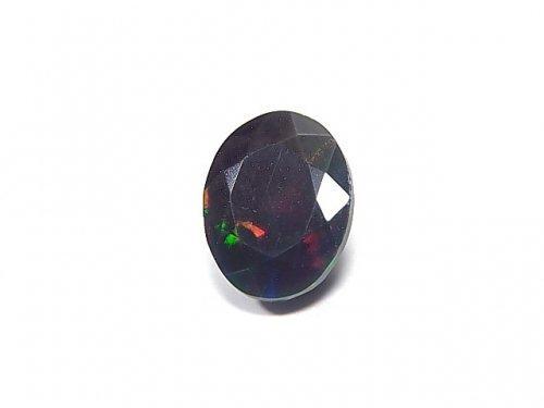 【動画】【1点もの】宝石質エチオピア産ブラックオパールAAA ファセットカット 1粒 NO.35