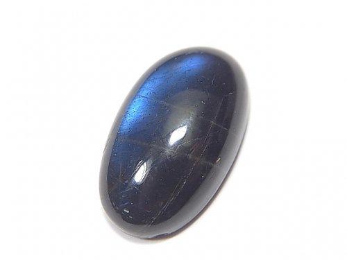 【動画】【1点もの】宝石質ブラックラブラドライトAAA- カボション 1個 NO.88