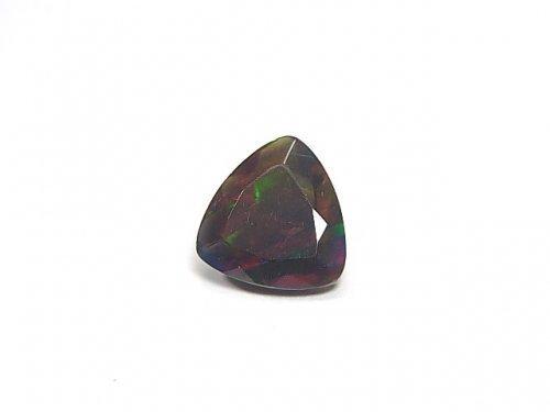 【動画】【1点もの】宝石質エチオピア産ブラックオパールAAA ファセットカット 1粒 NO.40