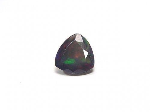 【動画】【1点もの】宝石質エチオピア産ブラックオパールAAA ファセットカット 1粒 NO.41