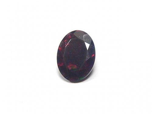 【動画】【1点もの】宝石質エチオピア産ブラックオパールAAA ファセットカット 1粒 NO.55