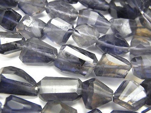 【動画】宝石質アイオライトAAA タンブルカット 1連(約18cm)
