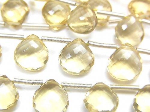 【動画】【極上カット】宝石質シャンパンクォーツAAA マロン ブリオレットカット 1連(8粒)