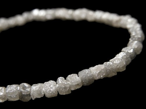 【動画】【1点もの】【1mm穴】グレーダイヤモンド ラフキューブ 1連(ブレス) NO.9