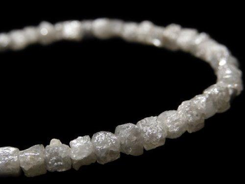 【動画】【1点もの】【1mm穴】グレーダイヤモンド ラフキューブ 1連(ブレス) NO.13