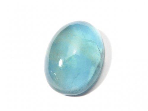 【動画】【1点もの】宝石質ブルーグリーンフローライトAAA カボション 1粒 NO.105