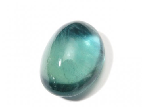 【動画】【1点もの】宝石質ブルーグリーンフローライトAAA カボション 1粒 NO.110