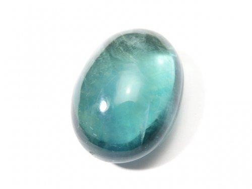 【動画】【1点もの】宝石質ブルーグリーンフローライトAAA カボション 1粒 NO.112