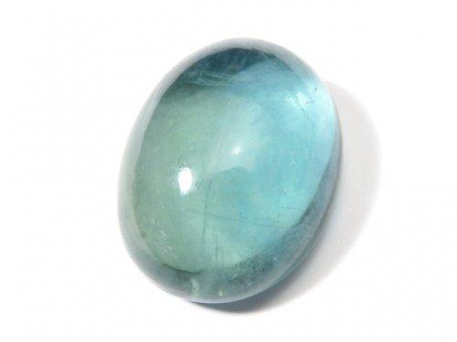 【動画】【1点もの】宝石質ブルーグリーンフローライトAAA カボション 1粒 NO.113